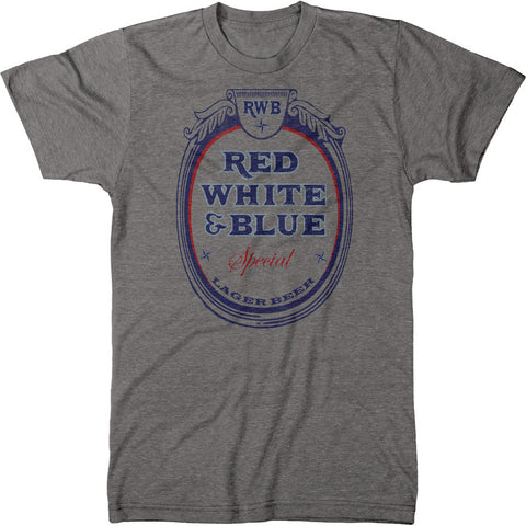 Red White & Blue Beer Mens Modern Fit Tri-blend T-Shirt