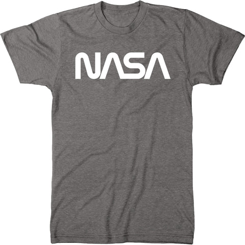 NASA White Worm Logo Men's Modern Fit Tri-Blend T-Shirt