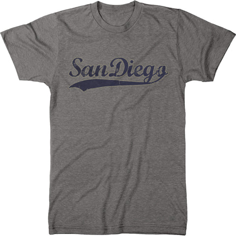 San Diego Swoosh Men's Modern Fit Tri-Blend Crew