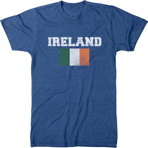 Distressed St. Patrick's Day Ireland Flag Men's Modern Fit T-Shirt