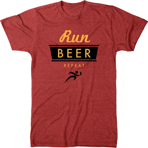 Run, Beer, Repeat Men's Modern Fit Tri-Blend T-Shirt