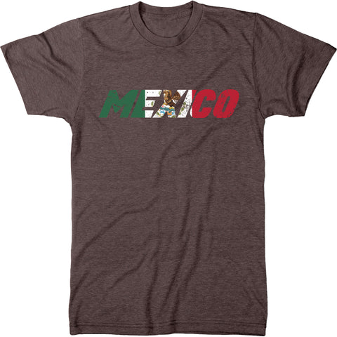 Mexico Flag Overlay Men's Modern Fit T-Shirt