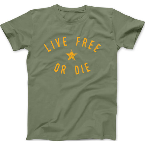 Live Free or Die New Hampshire Motto Mens Cotton T-shirt