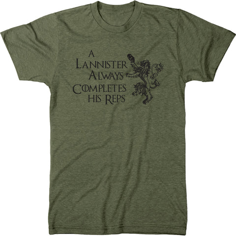 A Lannister Always Completes His Reps Men's T-Shirt