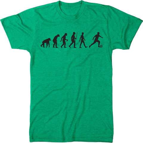 Evolution of A Soccer Player Men's Tri-Blend Crew