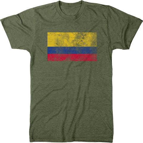 Distressed Colombia Flag Men's Modern Fit T-Shirt