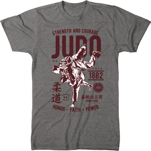 Judo Strength And Courage Men's Modern Fit T-Shirt