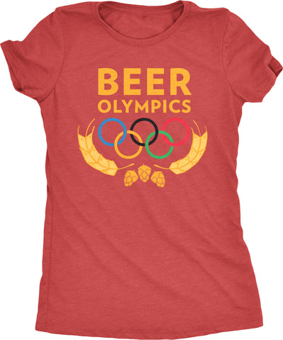 Beer Olympics Women's Tri-blend T-Shirt