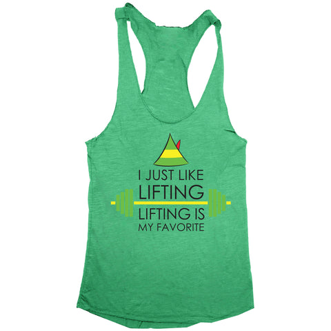 I Just Like Lifting Women's Tri-Blend Racerback Tank
