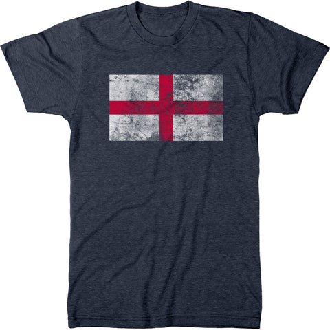 Distressed England Flag Men's Modern Fit T-Shirt