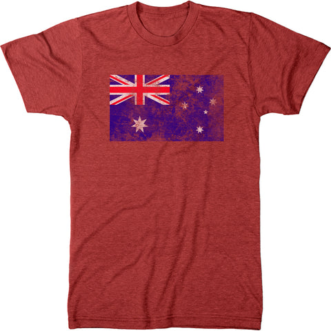 Distressed Australia Flag Men's Modern Fit T-Shirt