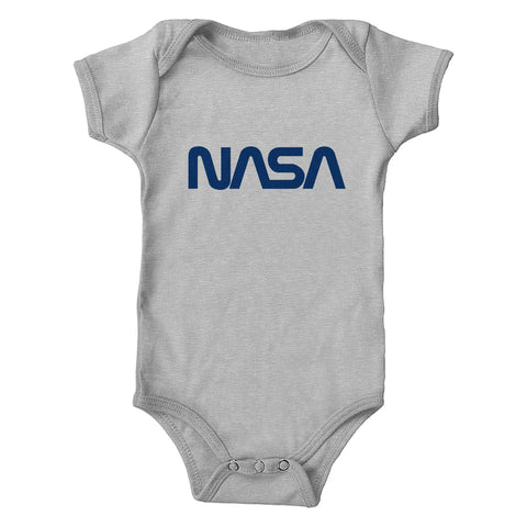 NASA Navy Worm Logo Infant 100% Cotton One-Piece Bodysuit