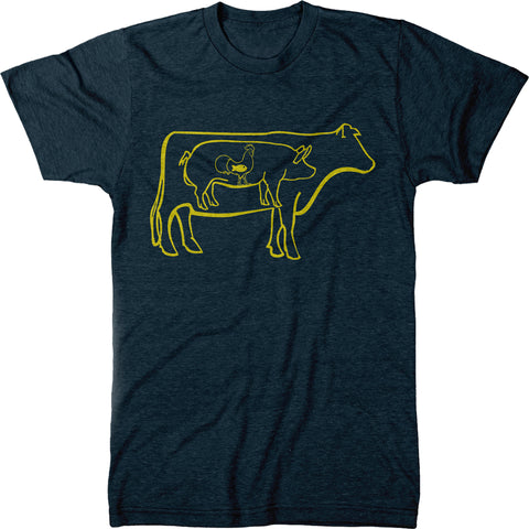 All Meat Food Group Mens Tri-blend T-shirt