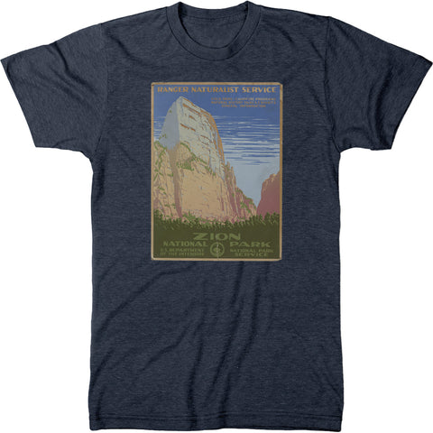 Zion National Park Vintage Poster Mens Tri-blend T-shirt