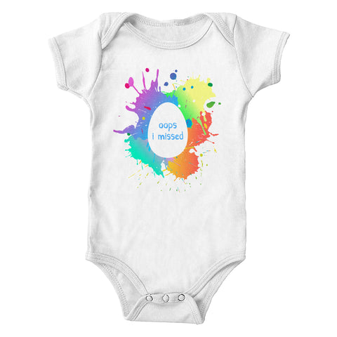 Oops I Missed Easter Egg Infant Lap-Shoulder Bodysuit