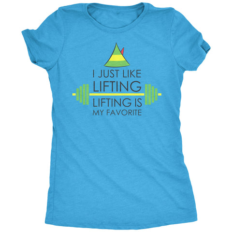 I Just Like Lifting Women's Tri-Blend T-Shirt