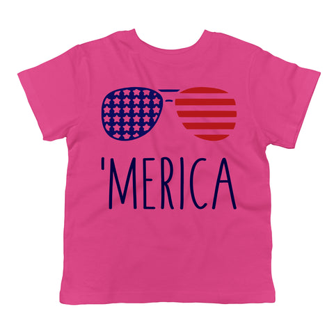 'MERICA American Flag Aviators Toddler T-Shirt