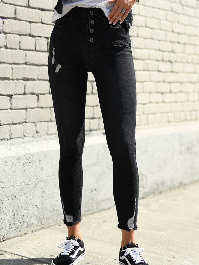 Woodbridge Button Fly Skinny Jeans