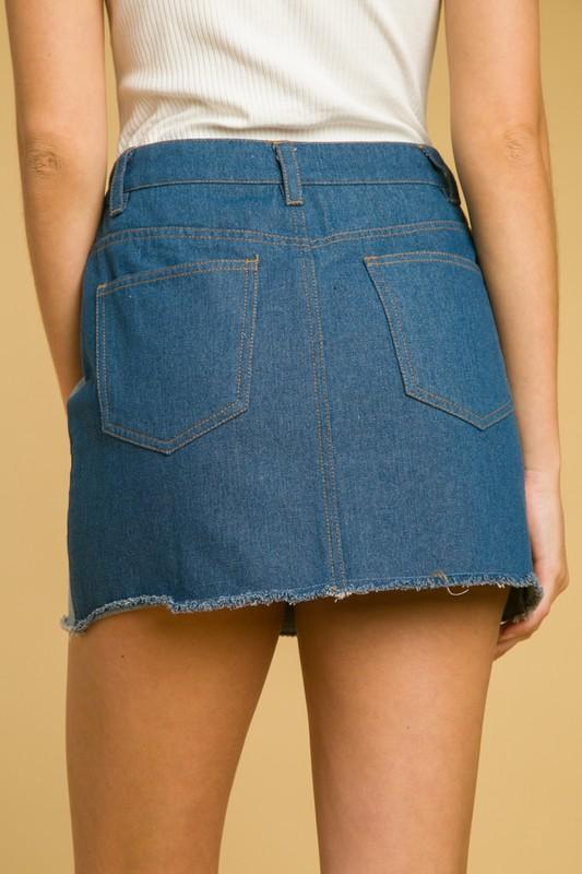 Trixie Patchwork Denim Skirt