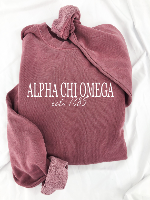Alpha Chi Omega Spencer Sweatshirt