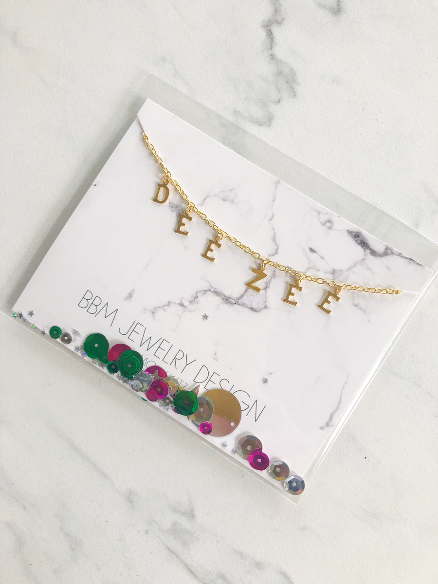 Sorority Name Drop Necklace