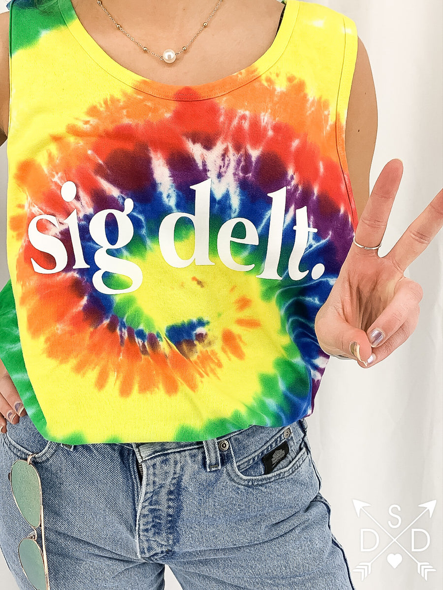 [Ready-To-Ship] Sigma Delta Tau Tie Dye Tank - L