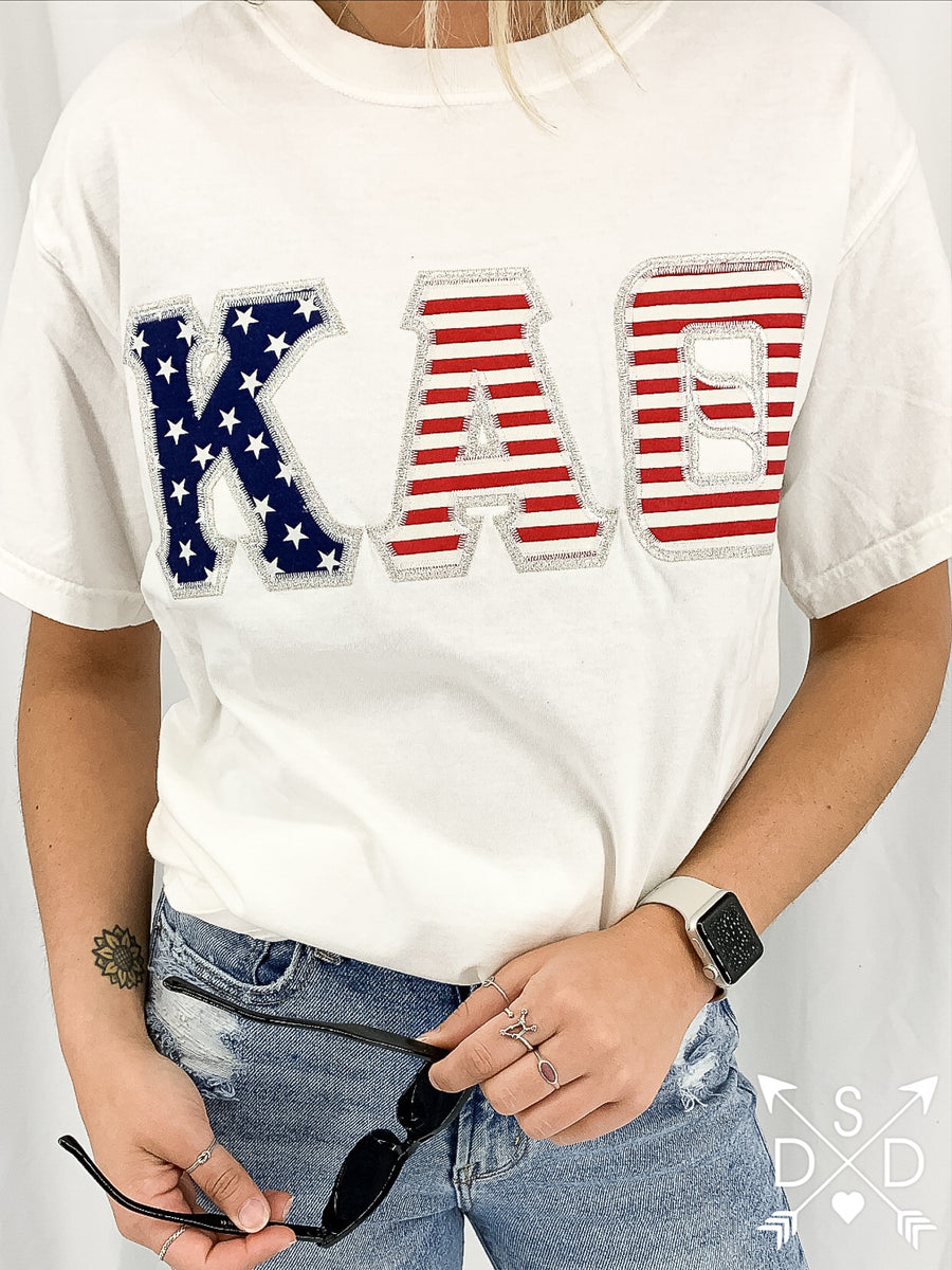 [Ready-To-Ship] Kappa Alpha Theta Embroidered Tee - S