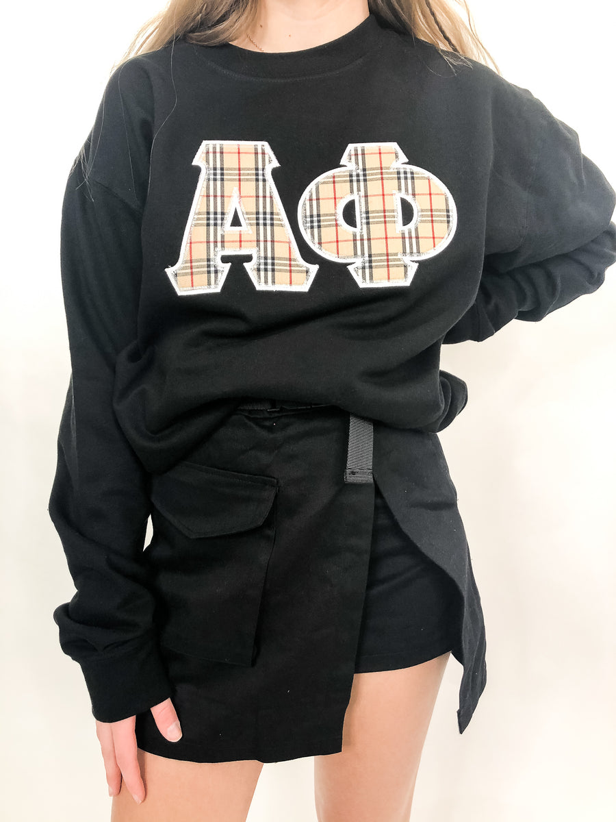 Alpha Phi London Embroidered Crewneck