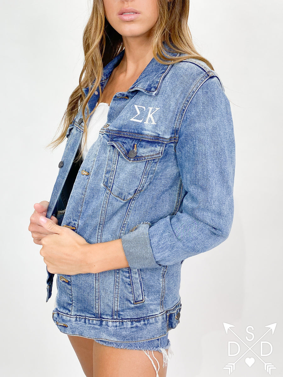 Mallory Embroidered Denim Jacket