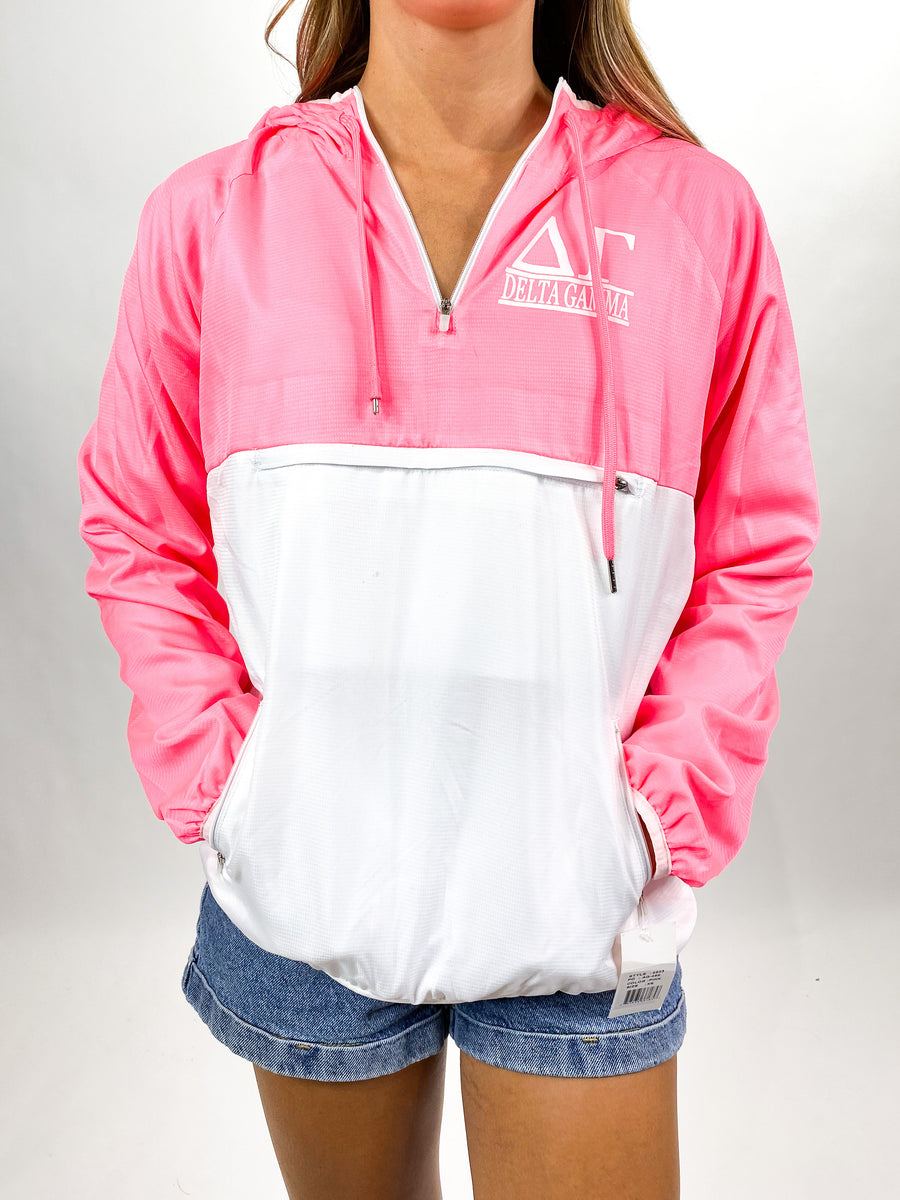 [Ready-To-Ship] Delta Gamma Quarter-Zip - Pink - XS