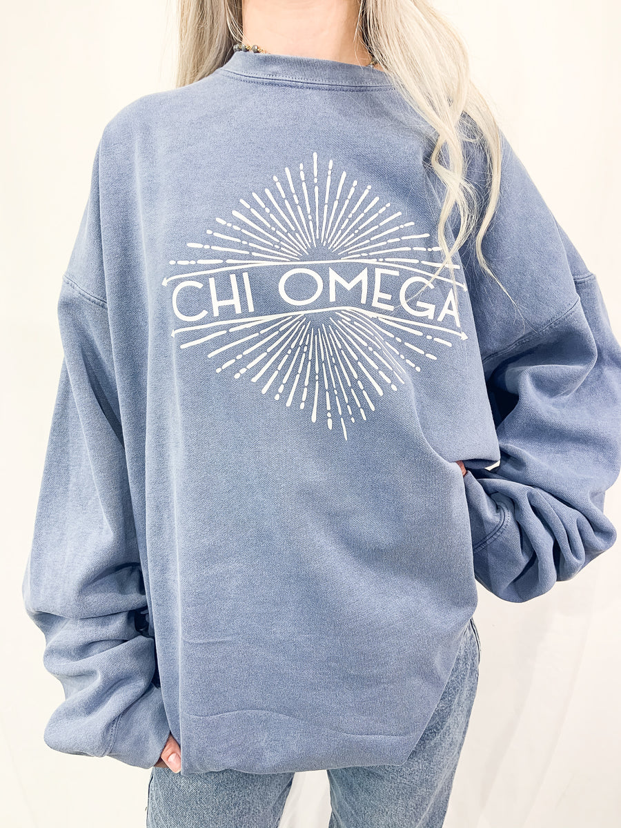 [Ready-To-Ship] Chi Omega Little Miss Sunshine Sorority Crew - 2XL