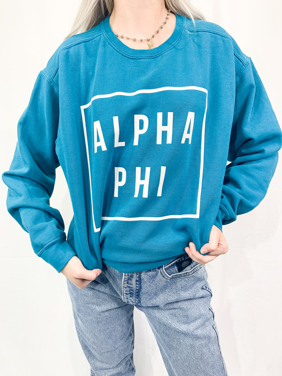 [Ready-To-Ship] Alpha Phi Hip To Be Pigment Sorority Crew - M