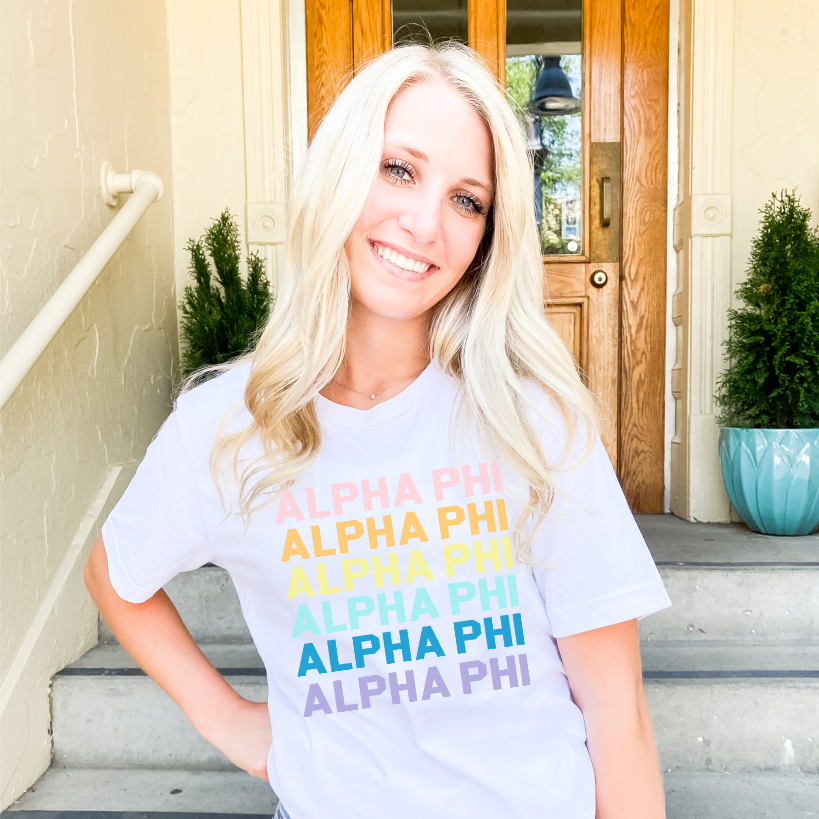 Alpha Phi On the Move Tee