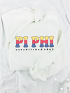 Dad's Plaid Embroidered Letter Crewneck