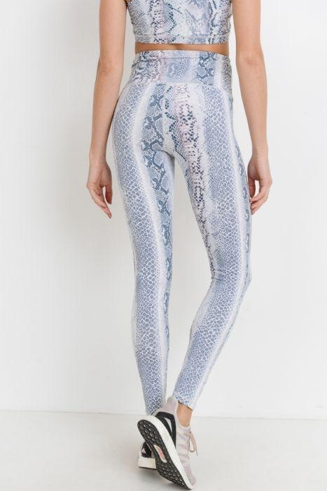 Blue Medusa High Waisted Full Length Legging