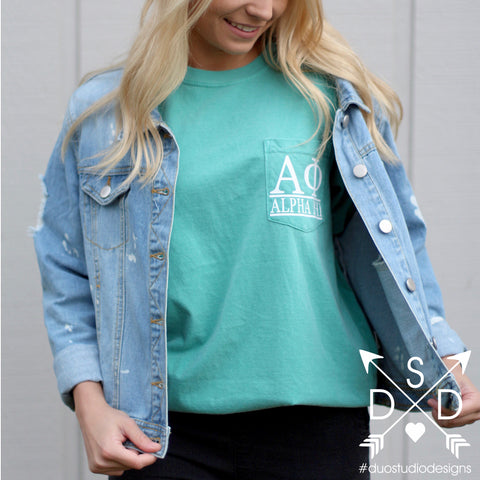 Mineral Wash Sorority Tee