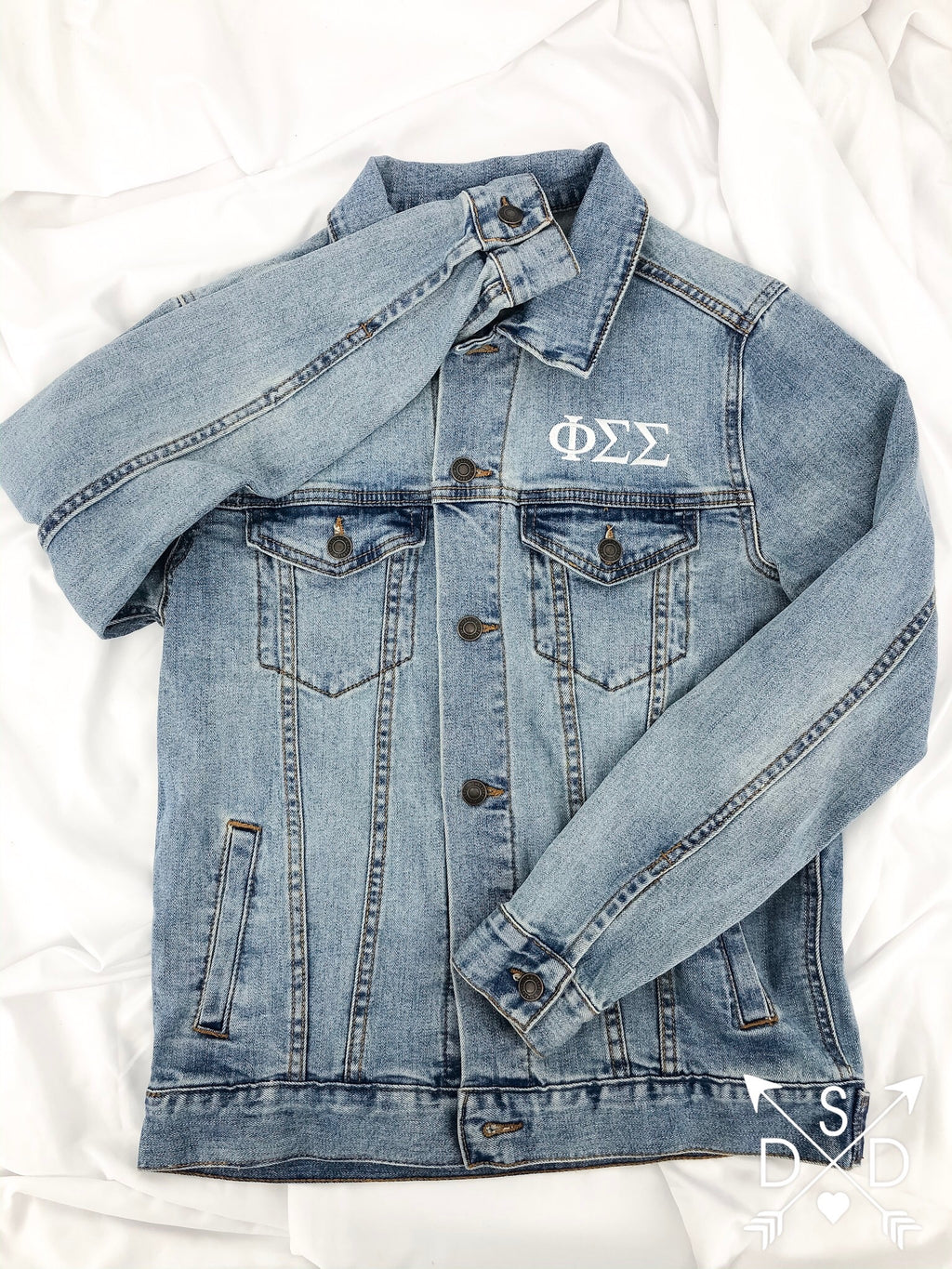 Mallory Embroidered Denim Jacket // Duo Couture Collection