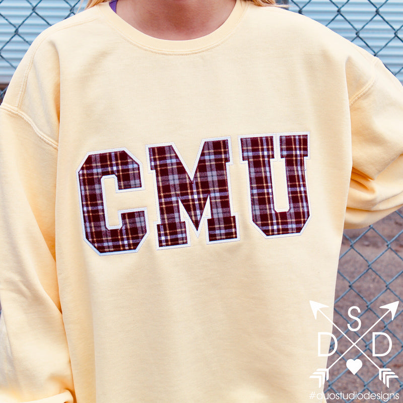 Alma Mater Embroidered Crewneck