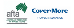 AFTA and Cover-More Travel Insurance logos