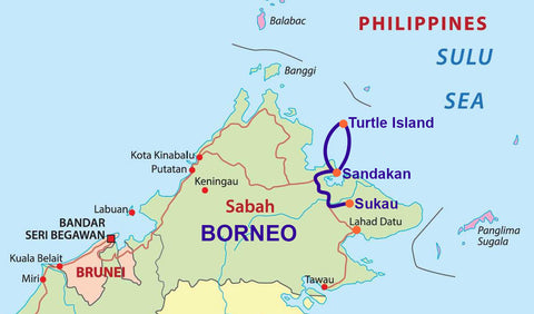 Travelbay Borneo Map