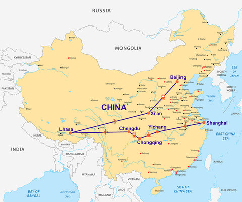 Travelbay China & Tibet Map