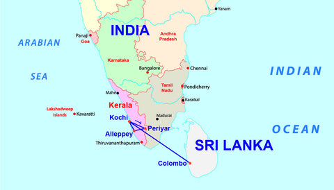 Travelbay India & Sri Lanka 14 Day Map