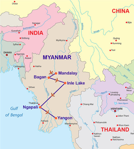 TRAVELBAY-MYANMAR-12 DAY TOUR -WITH-BEACH-BREAK