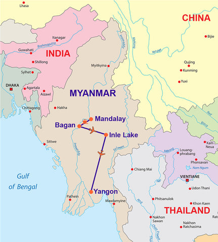 Travelbay Myanmar - 14 Day Best of Burma Cruise and Tour