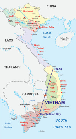 Travelbay Vietnam 10 Day Luxury Map