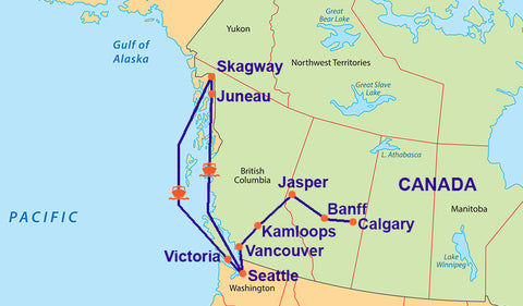 Travelbay Alaska and Canada 16 Day Cruise and Tour