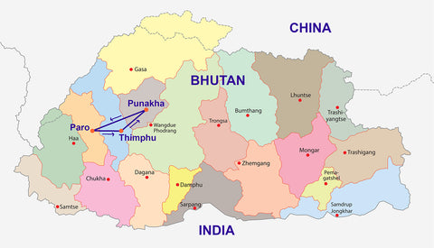 Travelbay Bhutan Map