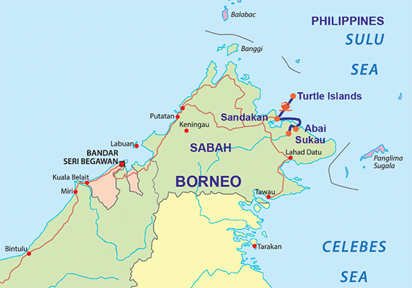 Travelbay Borneo Tours - 8 Day Borneo Map