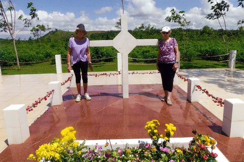 Travelbay Customer Reviews - Marion Raftery at Long Tan Battlefield, Vietnam