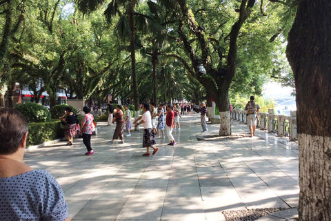 Travelbay Customer Reviews - Ray & Rose Schmidt in China - Morning exercise, Chengdu
